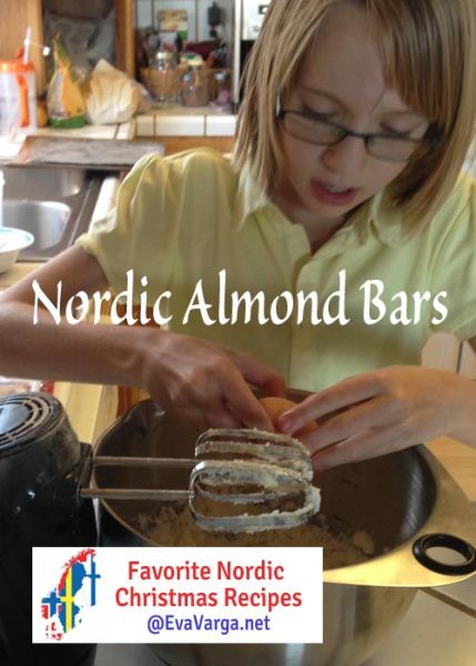 5 Favorite Christmas Recipes: Nordic Almond Bars @EvaVarga.net