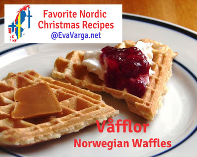 5 Favorite Christmas Recipes: Våfflor @EvaVarga.net