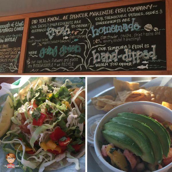 images of restaurant menu and two menu items