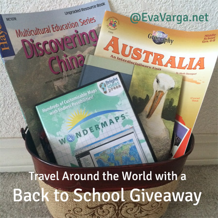 Travel Around the World with a Back to School Giveaway @EvaVarga.net