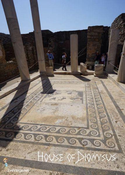 Delos: House of Dionysus floor mosaic @EvaVarga.
