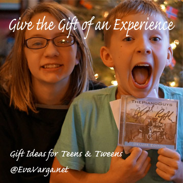 Give the Gift of Experiences: Gift Ideas for Teens @EvaVarga.net