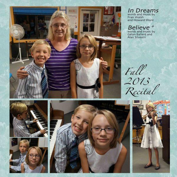 fall recital