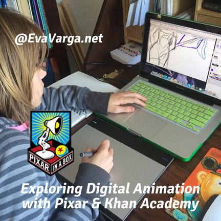 Exploring Digital Animation with Pixar & Khan Academy @EvaVarga.net
