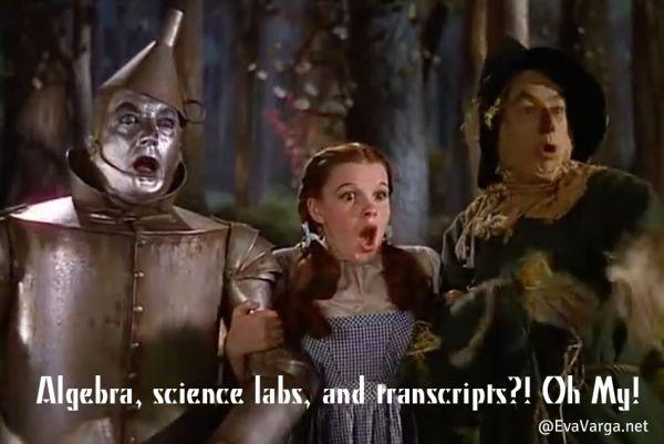 Algebra, Science Labs, & Transcripts Oh My! @EvaVarga.net