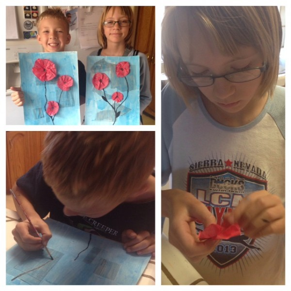 Veteran's Day Poppy Art Activity