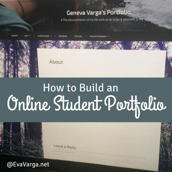 How to Build an Online Student Portfolio @EvaVarga.net