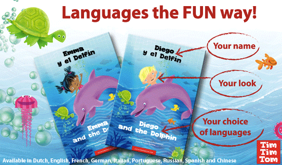 image of bilingual book covers labeling title and author