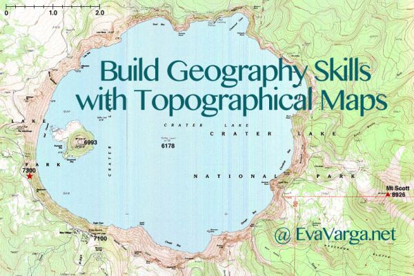 Crater Lake Topographic Map.Build Geography Skills With Topographic Maps Eva Varga