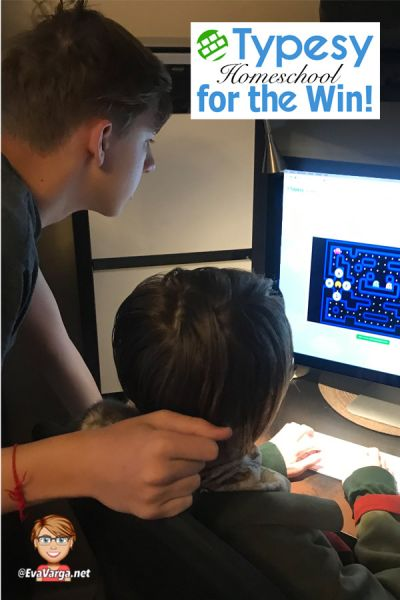 Image of two teens using the Typesy Homeschool Typing program